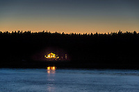 Small waterfront cabin in a remote secluded location.