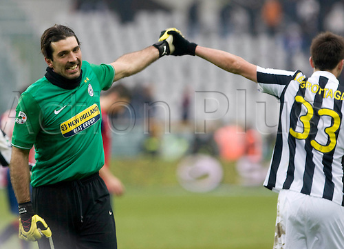 During a Serie A, soccer match between Juventus and Genoa at the Olympic stadium in Turin, Italy, Sunday, feb. 14, 2010 - in the picture: gk buffon after the match.Alberto Ramella/sync/ACTIONPLUS editorial use only .
