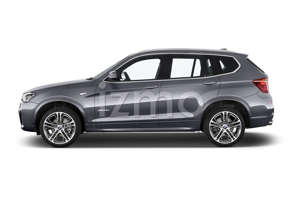 Car Driver side profile view of a 2015 BMW X3 M Sportpakket 5 Door Suv Side View