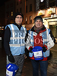 Robert Murray and Michael Burke who slept out on West street to raise money for Drogheda Homeless Aid. Photo:Colin Bell/pressphotos.ie