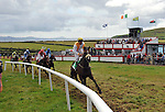 7-8-2011: Paul Lecky on 'Thanks A Lot' wins the opening race at Dingle races on Sunday.<br /> Picture by Don MacMonagle