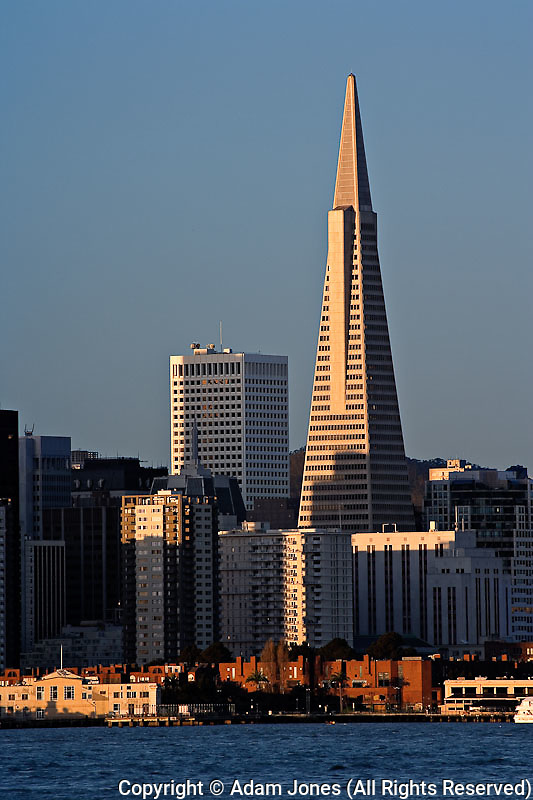 Transamerica building from Pier 9, San Francisco, California