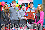 Pictured at the Student Enterprise Awards day at Tralee IT on Wednesday were students from St Patricks, Castleisland From left: Lea Parker Bond, IT Teacher, Alan O'Mahony, Kevin O'Connor, Brian Prendeville and Joanne Casey, Business Teacher.