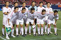 The starting lineup of China. The NY/NJ MetroStars defeated the national team of China 2-1 in a friendly on 9/09/03 at Giant's Stadium, NJ..