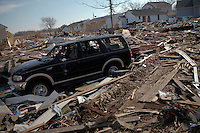 A car is seen in Union Beach, One month after been affected by the hurricane Sandy in New York, United States. 29/11/2012. Photo by Kena Betancur/VIEWpress.