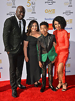 LOS ANGELES, CA. March 30, 2019: Jack Brown, Kiana Brown, Miles Brown & Cyndee Brown at the 50th NAACP Image Awards.<br /> Picture: Paul Smith/Featureflash