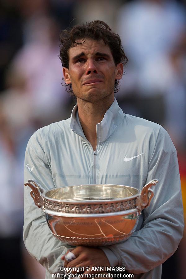 RAFAEL NADAL (ESP)<br /> Tennis - French Open 2014 -  Roland Garros - Paris -  ATP-WTA - ITF - 2014  - France -  8th June 2014. <br /> <br /> &copy; AMN IMAGES
