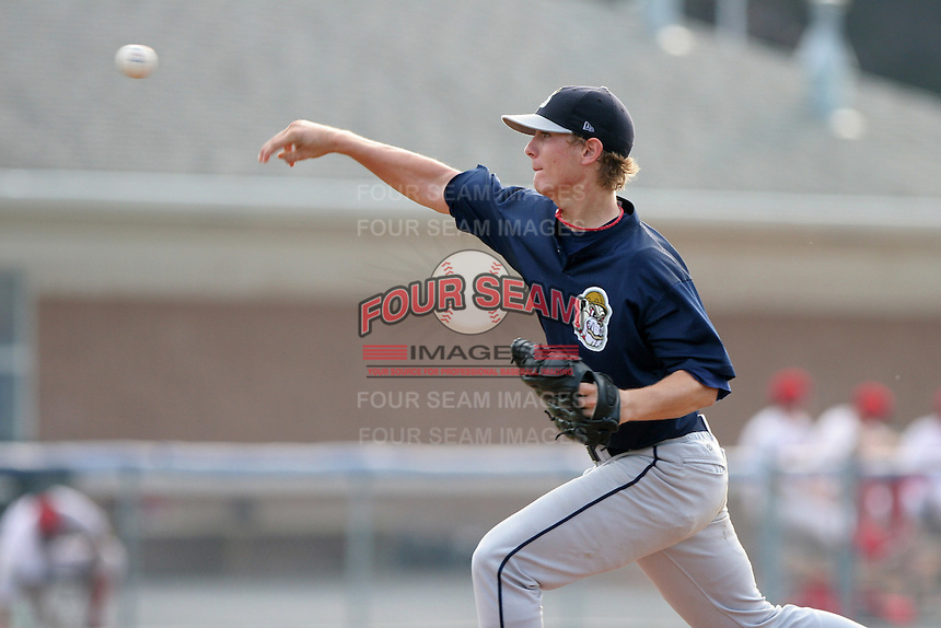 Mahoning Valley Scrappers Josh Tomlin during a NY-Penn League game at Dwyer Stadium on July 30, 2006 in Batavia, New York.  (Mike Janes/Four Seam Images)