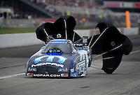 Sept. 4, 2011; Claremont, IN, USA: NHRA funny car driver Matt Hagan during qualifying for the US Nationals at Lucas Oil Raceway. Mandatory Credit: Mark J. Rebilas-