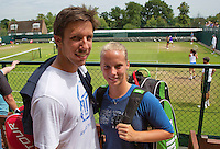 England, London, June 29, 2015, Tennis, Wimbledon, practisecourts, Richel Hogenkamp and Igor Sijsling (NED)<br /> Photo: Tennisimages/Henk Koster