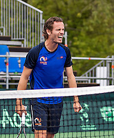 Moscow, Russia, 14 th July, 2016, Tennis,  Davis Cup Russia-Netherlands, Dutch team practise,  Wesley Koolhof, <br /> Photo: Henk Koster/tennisimages.com