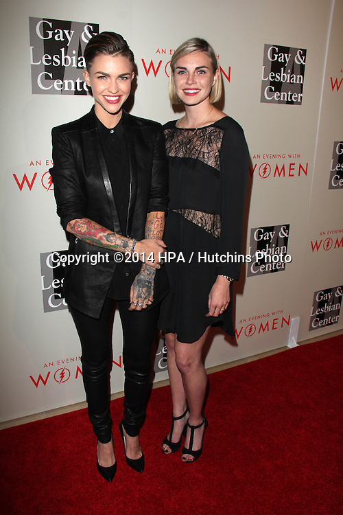 """LOS ANGELES - MAY 10:  Ruby Rose, Phoebe Dahl at the L.A. Gay & Lesbian Center's """"An Evening With Women"""" at Beverly Hilton Hotel on May 10, 2014 in Beverly Hills, CA"""