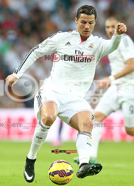 Real Madrid's Cristiano Ronaldo during La Liga match.October 25,2014. (ALTERPHOTOS/Acero) /nortephoto.com