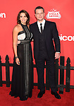 WESTWOOD, CA - OCTOBER 22: Actor Matt Damon (R) and wife Luciana Barroso arrive at the Premiere Of Paramount Pictures' 'Suburbicon' at Regency Village Theatre on October 22, 2017 in Westwood, California.