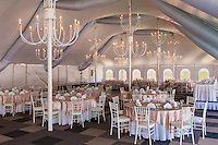 A large party tent at the DoubleTree by Hilton Hotel.