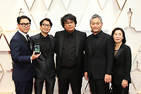 09 February 2020 - Hollywood, California - Bong Joon-ho, Yang Jin-mo, Jin Won Han, Kwak Sin-ae, Ha-jun Lee. 92nd Annual Academy Awards presented by the Academy of Motion Picture Arts and Sciences held at Hollywood & Highland Center. Photo Credit: AdMedia