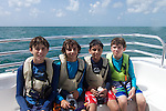 boys on Families in Nature marine biology trip to Florida