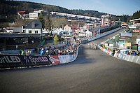 Elite Womens Race up the most famous bend in F1, The Raidillon, for the first time<br /> <br /> Superprestige Francorchamps 2014