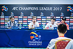 Shanghai SIPG FC head coach Andre Villas-Boas reacts during Pre-Match Press Conference and Training Session prior to the AFC Champions League 2017 Quarter-Finals match between Shanghai SIPG (CHN) and Guangzhou Evergrande (CHN) at the Shanghai Stadium on 21 August 2017 in Shanghai, China. Photo by Yu Chun Christopher Wong / Power Sport Images
