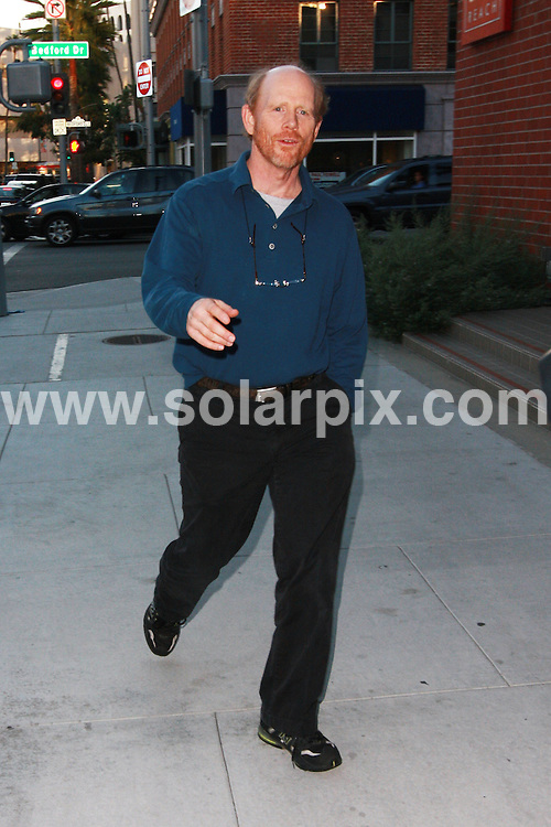 **ALL ROUND PICTURES FROM SOLARPIX.COM**.**WORLDWIDE SYNDICATION RIGHTS**.**NO PUBLICATION IN AUSTRALIA, NEW ZEALAND, DENMARK, GERMANY OR USA**.The academy award winning producer director and actor best known from Happy Days as Richie Cunningham and American Graffiti Ron Howard walks the streets of Beverly Hills Los Angeles California after a late lunch...JOB REF:7820-LAP/JS       DATE:07-11-08 .**MUST CREDIT SOLARPIX.COM OR DOUBLE FEE WILL BE CHARGED* *UNDER NO CIRCUMSTANCES IS THIS IMAGE TO BE REPRODUCED FOR ANY ONLINE EDITION WITHOUT PRIOR PERMISSION*