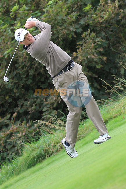 Day one of the Irish PGA championship at Seapoint Golf Club,.David Mortimer playing the first..Picture Fran Caffrey/www.golffile.ie.