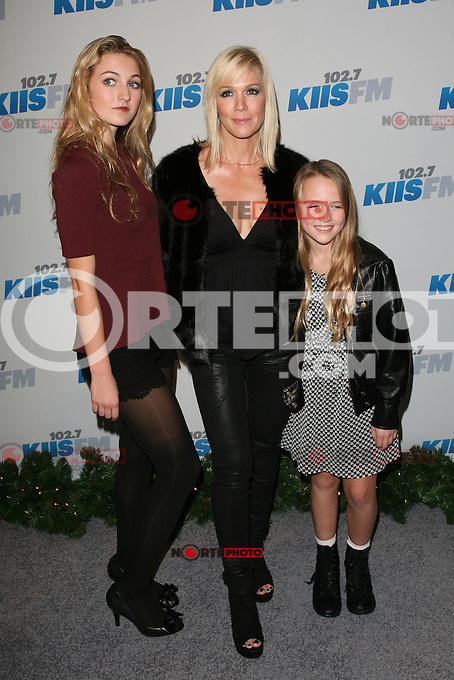 LOS ANGELES, CA - DECEMBER 01: Luca Bella Facinelli Jennie Garth and Lola Ray at KIIS FM's 2012 Jingle Ball at Nokia Theatre L.A. Live on December 1, 2012 in Los Angeles, California. Credit: mpi21/MediaPunch Inc. ©/NortePhoto /NortePhoto© /NortePhoto /NortePhoto
