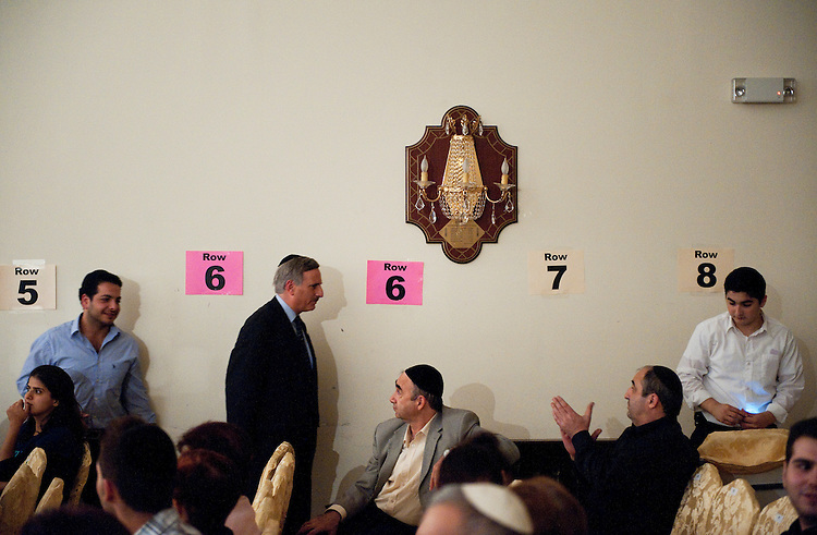 UNITED STATES - AUGUST 29:  David Weprin, second from left, democratic candidate for the seat of New York's 9th congressional district, leaves a gathering of the Ohr Natan congregation of Bukharian Jews in the Rego Park section of Queens.  The special election will be held on September 13, 2011, to fill the seat vacated by former congressman Anthony Weiner.  (Photo By Tom Williams/Roll Call)