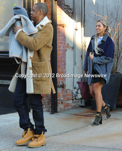 Pictured: Beyonce Knowles, Jay Z, Blue Ivy<br /> Mandatory Credit &copy; Jayme Oak/Broadimage<br /> Jay Z and wife Beyonce Knowles take their precious cargo baby Blue Ivy to lunch in a restaurant in Brooklyn in New York City<br /> <br /> 1/20/14, New York, New York, United States of America<br /> <br /> Broadimage Newswire<br /> Los Angeles 1+  (310) 301-1027<br /> New York      1+  (646) 827-9134<br /> sales@broadimage.com<br /> http://www.broadimage.com<br /> <br /> <br /> Pictured: Beyonce Knowles, Jay Z, Blue Ivy<br /> Mandatory Credit &copy; Jayme Oak/Broadimage<br /> Jay Z and wife Beyonce Knowles take their precious cargo baby Blue Ivy to lunch in a restaurant in Brooklyn in New York City<br /> <br /> 1/20/14, New York, New York, United States of America<br /> Reference: 011914_JKNY_BDG_024<br /> <br /> Broadimage Newswire<br /> Los Angeles 1+  (310) 301-1027<br /> New York      1+  (646) 827-9134<br /> sales@broadimage.com<br /> http://www.broadimage.com