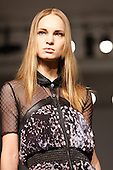 21 February 2009. Collection by designer Bryce d'Anice Aime at London Fashion Week. Showcasing at Vauxhall Fashion Scout