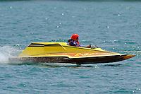S-32, 2.5 Stock class hydroplane..10-12 July, 2009, 100th Gold Cup, Detroit River, Detroit, MI USA..©2009 F.Peirce Williams, USA.