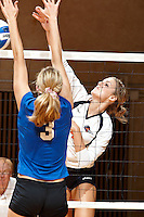 SAN ANTONIO , TX - SEPTEMBER 8, 2009: The California State University at Bakersfield Roadrunners vs. The University of Texas At San Antonio Roadrunners Women's Volleyball at the UTSA Convocation Center. (Photo by Jeff Huehn)