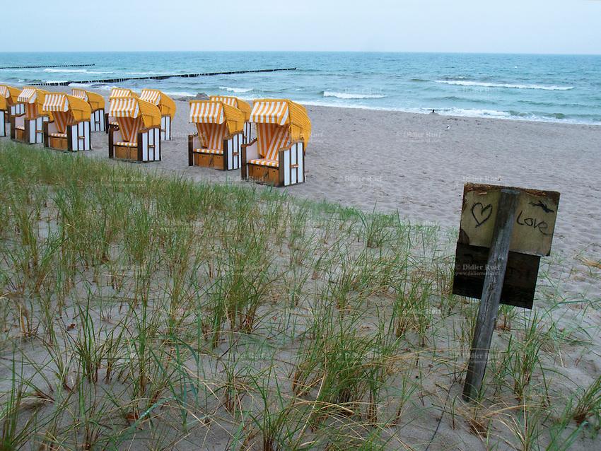 Zingst Baltic Sea Beach Sand Heart Love Nobody