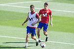 Sergio Ramos and Marc Bartra during training of the spanish national football team in the city of football of Las Rozas in Madrid, Spain. August 30, 2017. (ALTERPHOTOS/Rodrigo Jimenez)