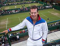 23-06-11, Tennis, England, Wimbledon, Dennis Schenk, coach van Robin Haase