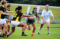 Manawatu Women's captain Selica Winiata in action against Wellington on day one of the 2018 Bayleys National Sevens at Rotorua International Stadium in Rotorua, New Zealand on Saturday, 13 January 2018. Photo: Dave Lintott / lintottphoto.co.nz
