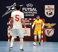 20191010 - HALLE: Benfica's goal keeper Diego Roncaglio is pictured during the UEFA Futsal Champions League Main Round match between Araz Naxcivan and SL Benfica on 10th October 2019 at De Bres Sportcomplex, Halle, Belgium. PHOTO SPORTPIX | SEVIL OKTEM