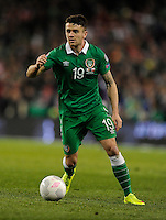 29th March 2015; UEFA EURO 2016 Championship Qualifier Group D, Ireland vs Poland, Aviva Stadium, Dublin<br /> Republic of Ireland's Robbie Brady<br /> Picture credit: Tommy Grealy/actionshots.ie.
