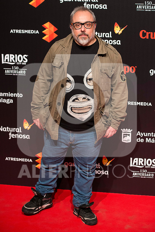 Alex de la Iglesia attends to the cocktail presentation of the XIX Malaga Film Festival at Circulo de Bellas Artes in Madrid. April 06, 2016. (ALTERPHOTOS/Borja B.Hojas)
