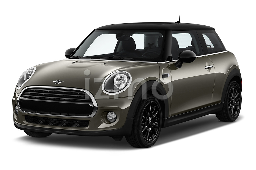 2019 Mini mini Cooper 3 Door Hatchback angular front stock photos of front three quarter view