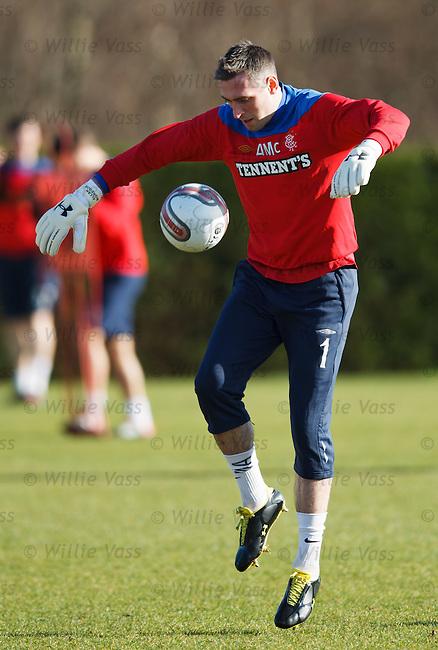 Allan McGregor studying the ball