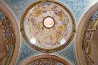 Europe/France/Rhone-Alpes/73/Savoie/Saint-Martin-de-Belleville: Chapelle Notre-Dame-de-la-Vie-les peintures baroques de la coupole