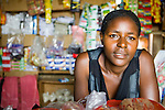 Woman in shop, Bigodi, western Uganda