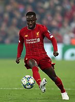 5th November 2019; Anfield, Liverpool, Merseyside, England; UEFA Champions League Football, Liverpool versus Genk; Naby Keita of Liverpool controls the ball with the outside of his boot - Editorial Use