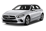 2019 Mercedes Benz A-Class Progressive 5 Door Hatchback Angular Front automotive stock photos of front three quarter view