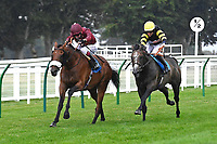 Winner of The Kevin Hall & Pat Boakes Memorial Handicap   Iron Heart ridden by Oisin Murphy and trained by Andrew Balding during Horse Racing at Salisbury Racecourse on 13th August 2020