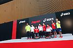(L-R)  Lomano Lemeki, Yuki Tenma, Wakako Tsuchida, Ryohei Kato, Saori Yoshida, Daisuke Ikezaki, Runa Imai, Atsushi Yamamoto (JPN), MAY 26, 2016 - : A press conference about presentation of Japan national team official sportswear for Rio de Janeiro Olympics 2016 in Tokyo, Japan. (Photo by Sho Tamura/AFLO SPORT)