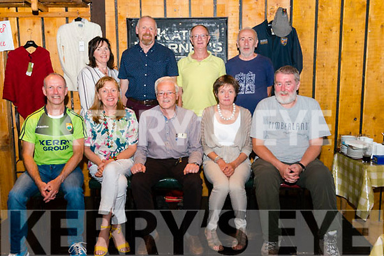 Front l-r Noel Kelleher, Breda Joy, Christy McCarthy, Miriam McCarthy and Mike Walker, back l-r Joan and Sean O'Sullivan, Donie Mulcahy and Tim Long celebrating 30th Anniversary of Killarney Mountaineering Club trip to Chamonix in the French Alps in the Kate Kearney cottage last Sunday.