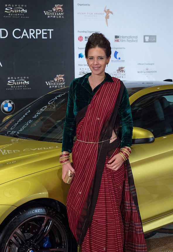 On the red carpet Macau Indian actress Kalki Koechlin for the 9th Asian Film awards at the Venetian Macau.25.03.15. 25th March 2015.
