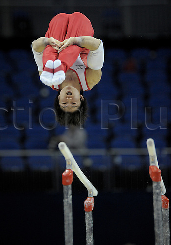 13.10.2009.World Gymnastics Champion ships at the O2 Arena London. Mens Qualifying Competition.Uchimura kohei of Japan in action. Photo: Alan Edwards/Actionplus. ..