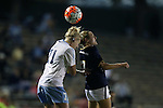 22 October 2015: North Carolina's Hannah Gardner (71) and Notre Dame's Karin Muya (ENG) (7). The University of North Carolina Tar Heels hosted the Notre Dame University Fighting Irish at Fetzer Field in Chapel Hill, NC in a 2015 NCAA Division I Women's Soccer game. UNC won the game 2-1.